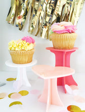 Load image into Gallery viewer, Circle Mini Cake Cupcake Acrylic Stands Acrylic