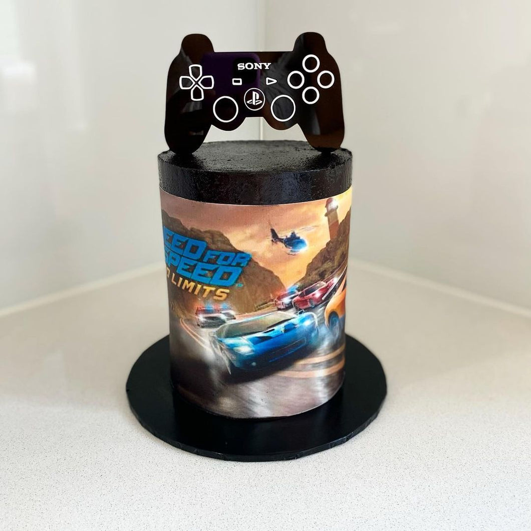 Play Station Acrylic Cake Topper Boys Birthday Party