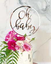 Load image into Gallery viewer, Circle Oh Baby Baby Shower Cake Topper