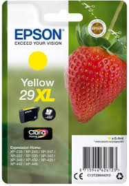 CARTUCCIA 29XL FRAGOLA Giallo INCHIOSTRI CLARIA HOME 29XL Originale Epson