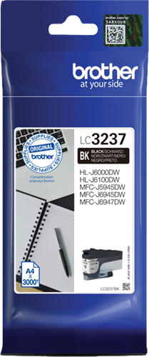 Brother LC-3237BK Cartuccia originale inkjet - nero
