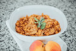 Skillet Peach Glazed Chicken
