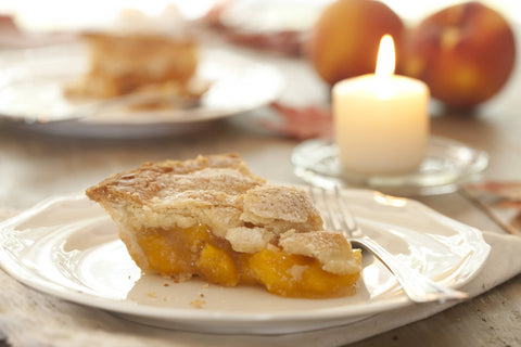 fresh peach pie with recipe from the peach brothers