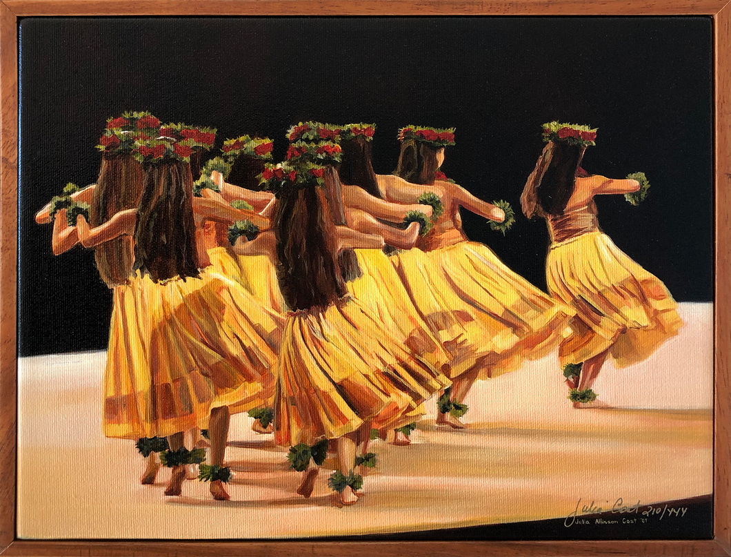 Hālau Nā Lei Kaumaka O Uka (in Yellow), 1 Piece Frame, Various Sizes, Julia Allisson Cost