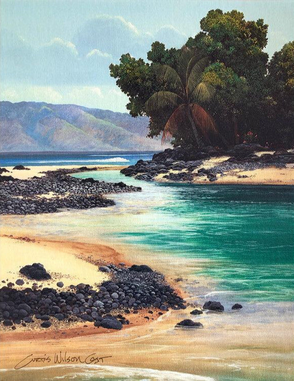 Hawaiian Turquoise, Unstretched Canvas, 18