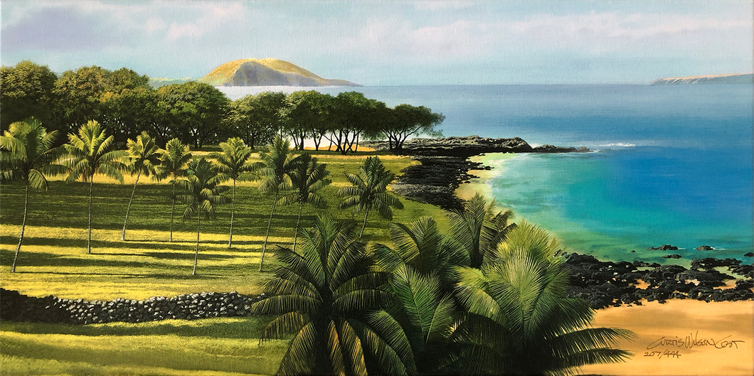 "Old Makena, Unstretched Canvas, 10"" x 20"""