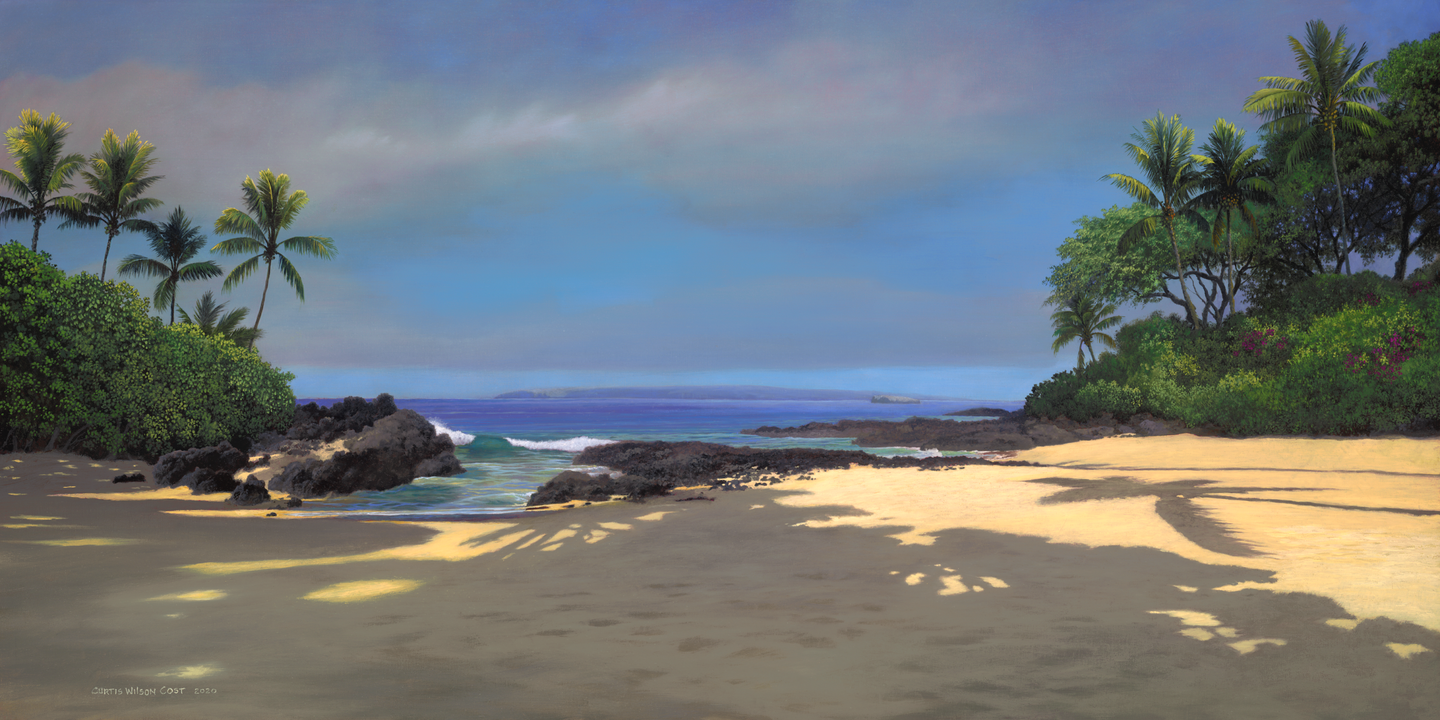 Secret Beach, Unstretched Canvas, 18