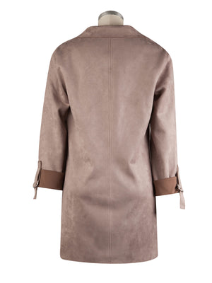 Faux Suede Coat (Buff)