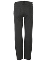 Striped Ponte Slim Fit Ankle Skinny, Petite (Black/Grey) Hover Image