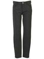 Striped Ponte Slim Fit Ankle Skinny, Petite (Black/Grey) Main Image