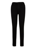 High Rise Slim Fit Skinny, Petite (Black) Main Image