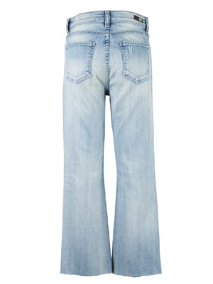 High Rise Relaxed Fit Ankle Flare (Difference Wash)