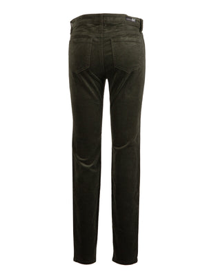 Corduroy Relaxed Fit Skinny (Deep Moss)