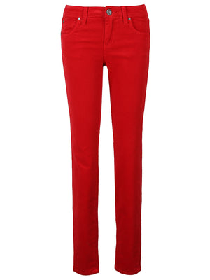 Corduroy Relaxed Fit Skinny (Red)
