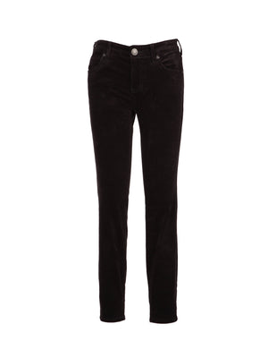 Corduroy Relaxed Fit Skinny, Petite (Charcoal Grey)