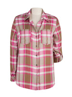 Button Down Plaid Top Main Image