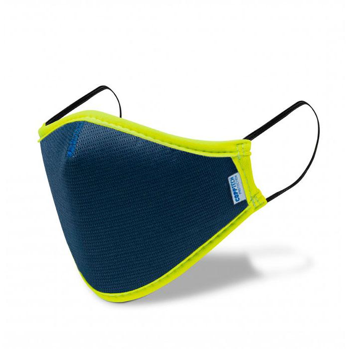Mascarilla reutilizable Smart mask ADULTO azul amarillo - mascarillasmartmask