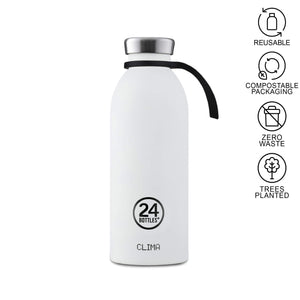 white 24 bottle with bottle tie