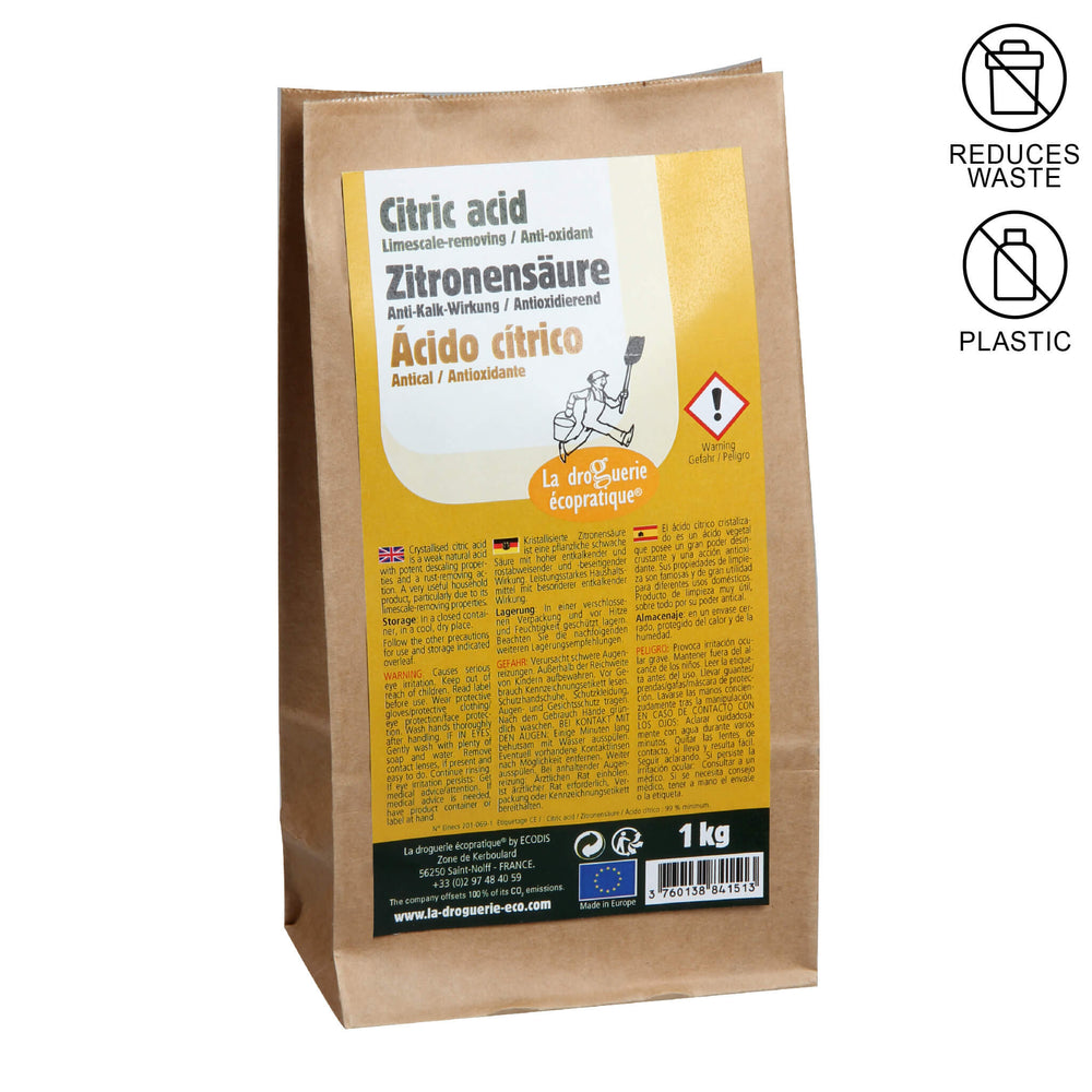 kraft paper packaging with citric acid