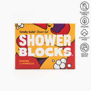shower blocks coffee and vanilla
