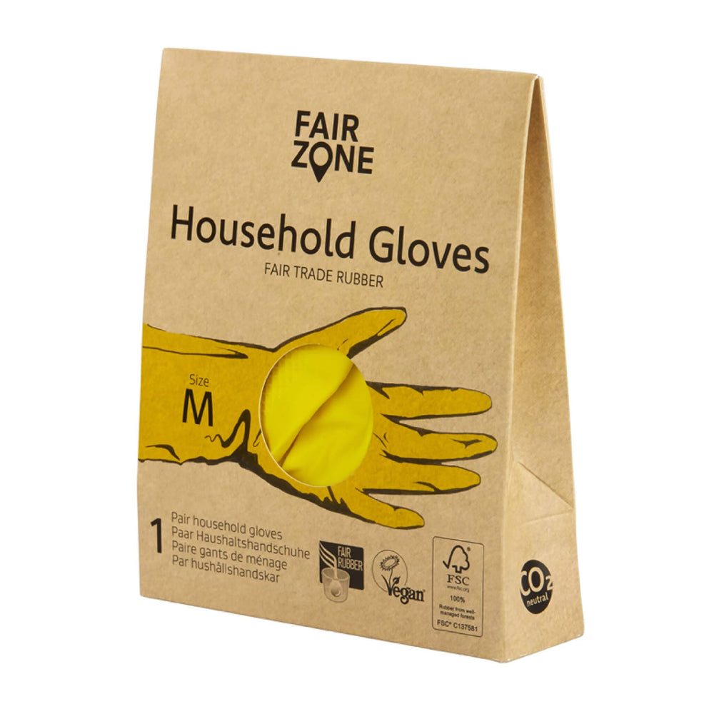 size M rubber hand gloves for cleaning