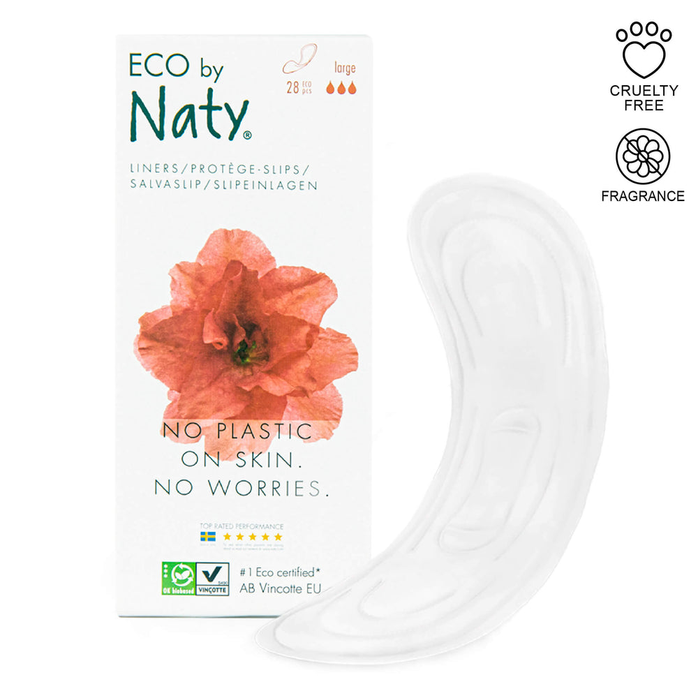 eco by naty large panty liners and packaging
