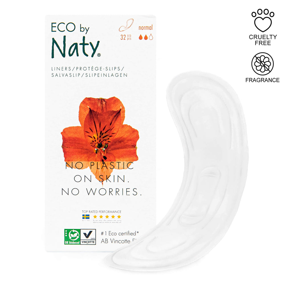 eco by naty normal panty liners and packaging