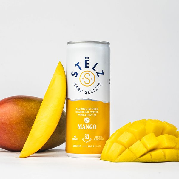 Load image into Gallery viewer, STËLZ Hard Seltzer Mango STËLZ Hard Seltzer