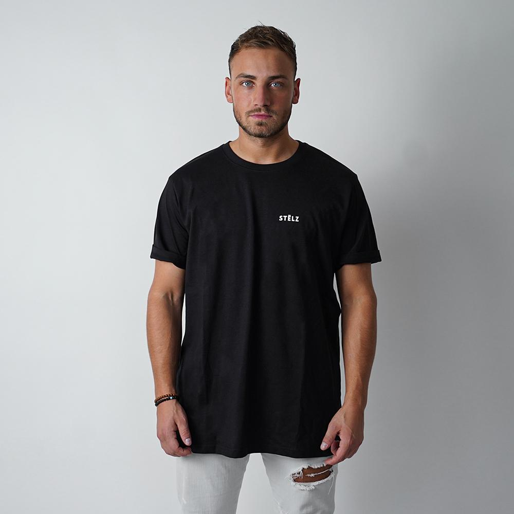 PRE-ORDER: T-Shirt Black, Straight Logo