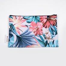 Load image into Gallery viewer, Blue & White Leaf Tropical Cozzie Bag