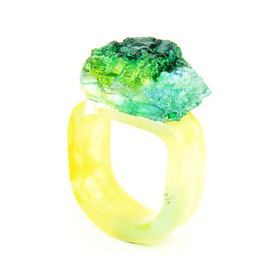 Rock ring (green and yellow)