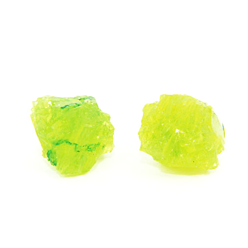Rocky treasure stud earrings (lime green