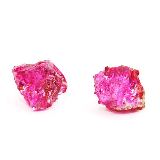 Rocky treasure stud earrings (purple with pink and gold details)