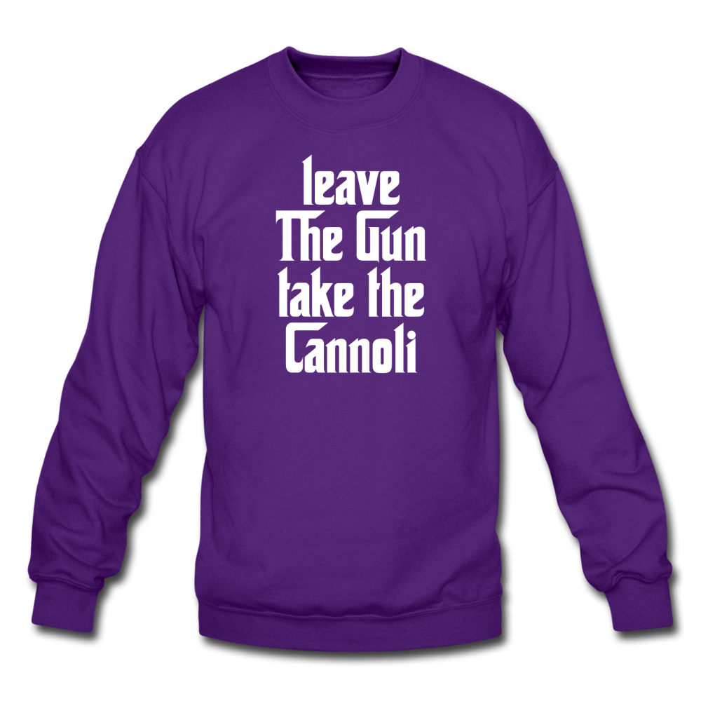 Leave The Gun Take The Cannolis Crewneck Sweatshirt - black