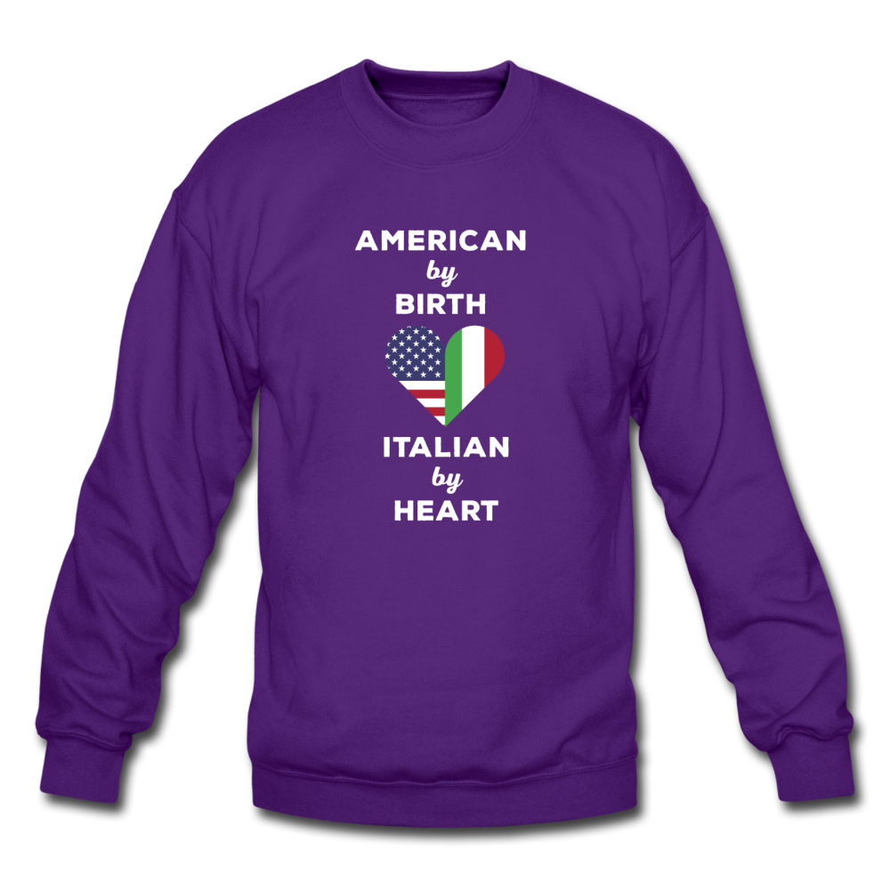 American by birth Italian by heart Crewneck Sweatshirt - black