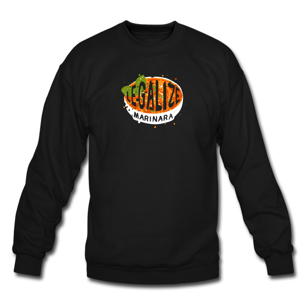 Legalize marinara Italians Crewneck Sweatshirt - black