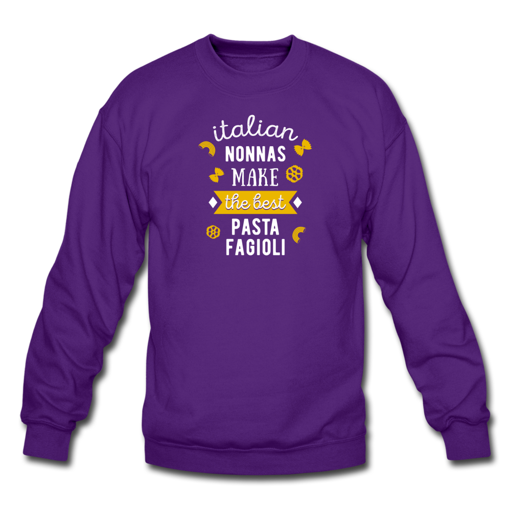 Italian nonnas make the best pasta fagioli Crewneck Sweatshirt - black