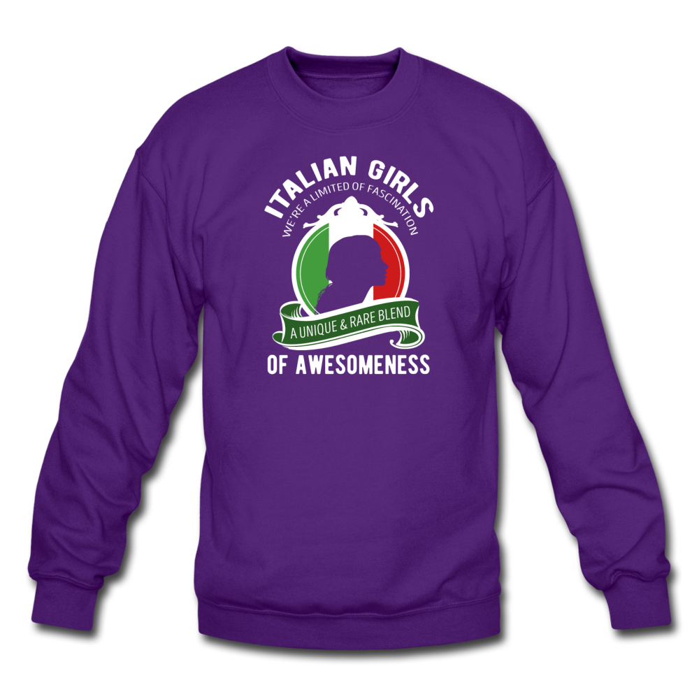 Italian Girls a unique & rare blend Crewneck Sweatshirt - black