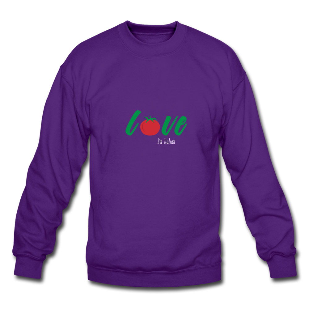 Love I'm Italian Crewneck Sweatshirt - black