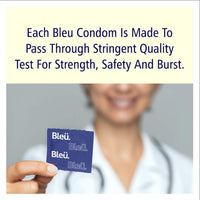 Bleu All Natural Latex Condoms Ultra Thin + Dotted + 3-In-1 Combo Condom (1 pack each)