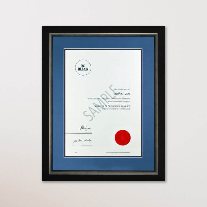 Single Certificate Frame