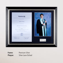 Load image into Gallery viewer, Photo Certificate Plaque - Premium Silver with Plaque
