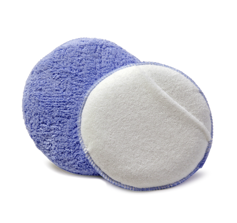 6in Round Microfiber Wax Sponge Applicator With Hand Pocket
