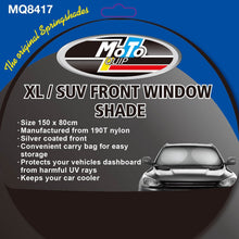 Load image into Gallery viewer, Moto-Quip SUV/XL Front Window Spring Shade (for Sun Protection)