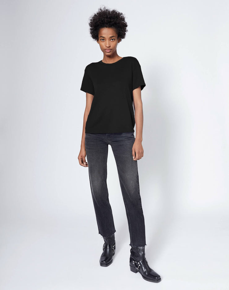 70s Loose Butter Soft Tee - Black