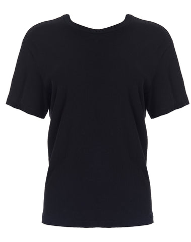 Heritage Cotton 1970s Boyfriend Tee - Black