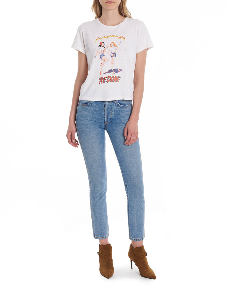 Devil Girls Graphic Tee - Vintage White