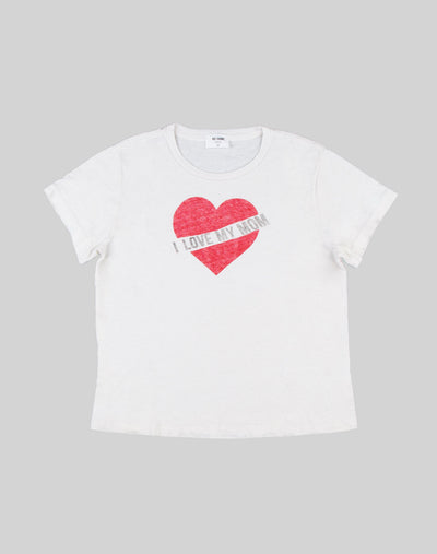 "Classic Tee ""I Love My Mom"" - Vintage White"