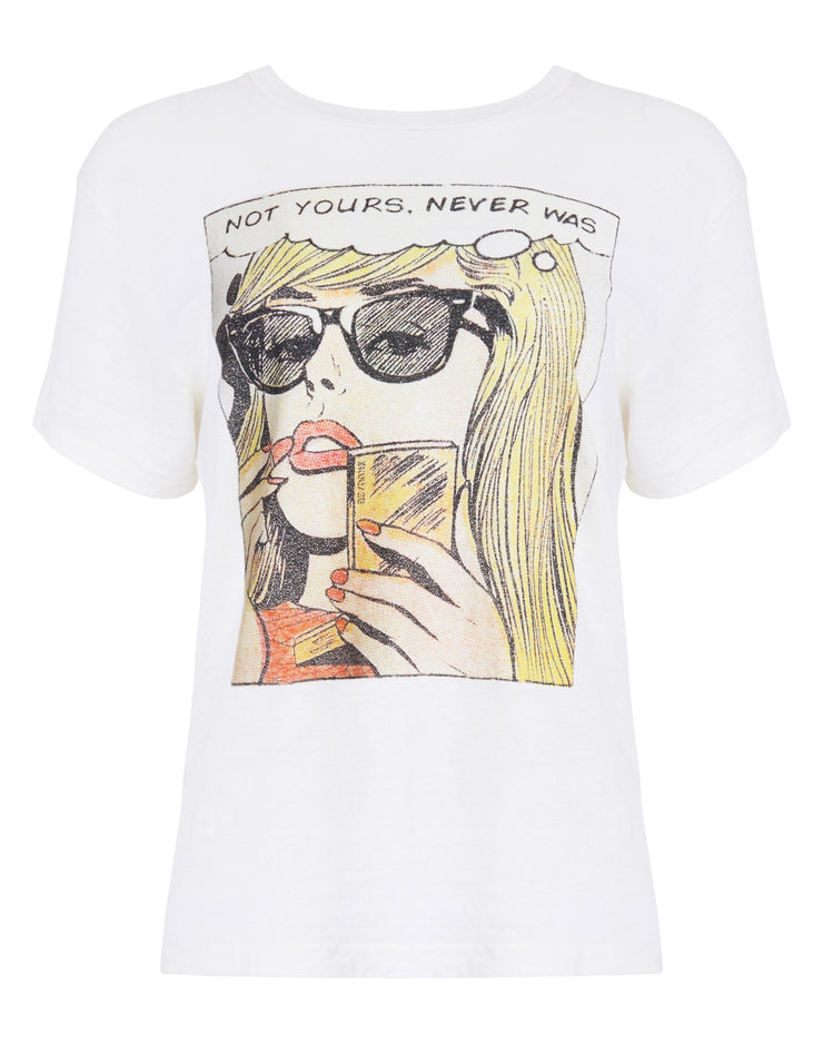 Not Yours Graphic Tee - Vintage White