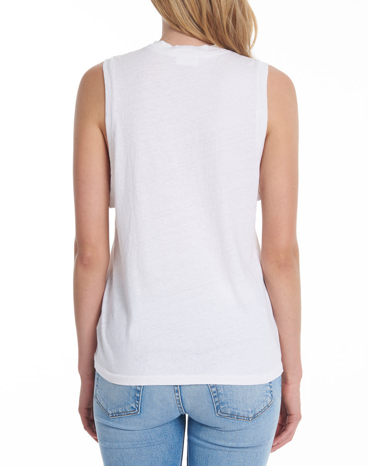 Heritage Cotton Muscle Tee - Vintage White